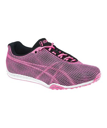 Black & Neon Pink GEL-Dirt Diva 4 Track & Field Shoe - Women