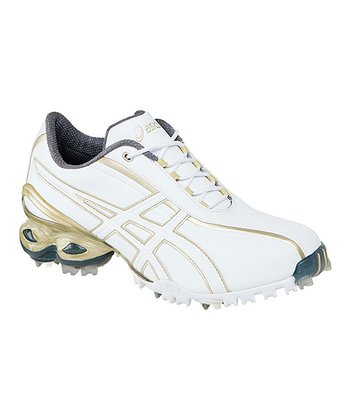 White & Champagne Gold Lady GEL-Ace Golf Shoe - Women