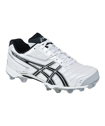 White & Black GEL-Provost Low Field Hockey Shoe - Men