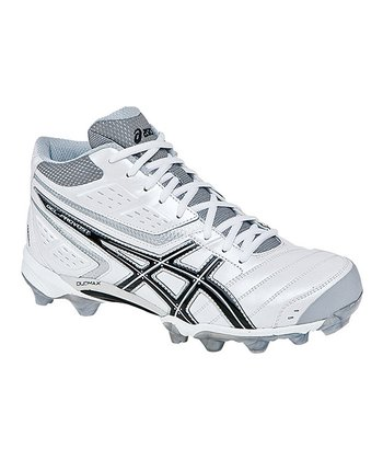 White & Black GEL-Provost Mid Field Hockey Shoe - Men