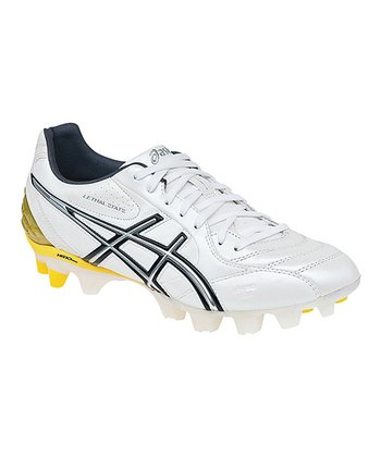 White & Black Lethal Stats Soccer Shoe - Men