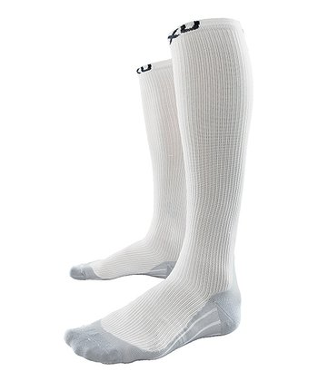 White 2XU Race Compression Socks - Men