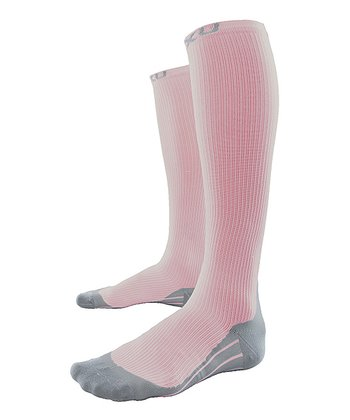 Pink 2XU Race Compression Socks - Women