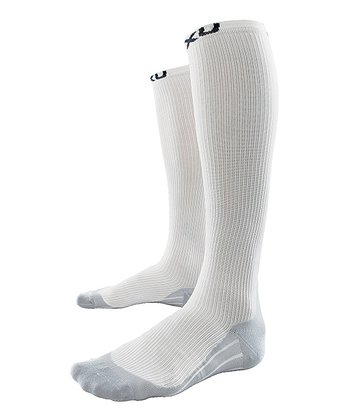 White 2XU Race Compression Socks - Women