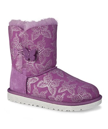 Dried Lavender Bailey Button Butterfly Boot
