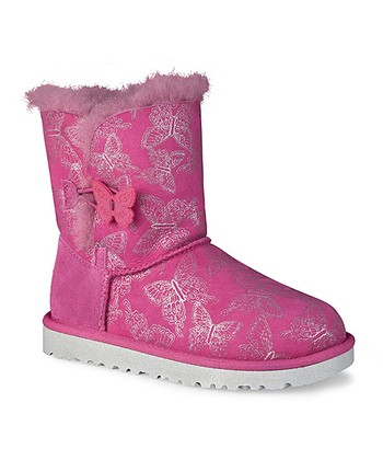 Raspberry Sorbet Bailey Button Butterfly Boot