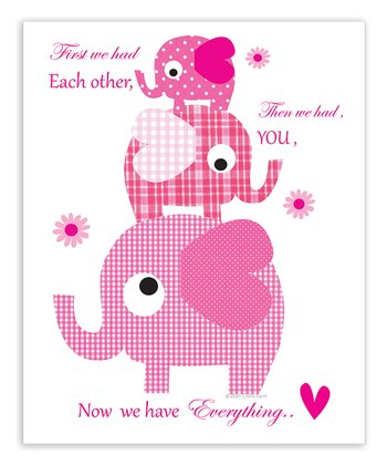 Pink 'Then We Had You' Print