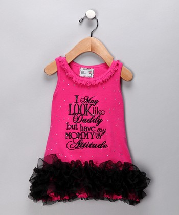 Pink 'Mommy's Attitude' Tutu Dress - Infant, Toddler & Girls