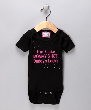 Black 'I'm Cute' Bodysuit - Infant