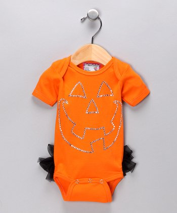 Orange Pumpkin Ruffle Bodysuit - Infant