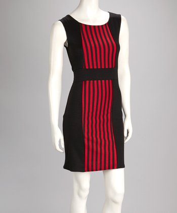 Black & Red Stripe Dress