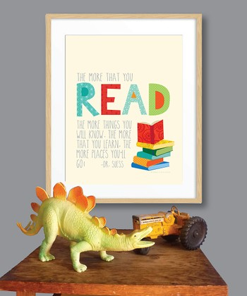 Beige 'The More That You Read' Print