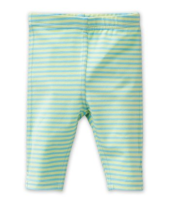 Blue Stripe Tappy Leggings - Infant, Toddler & Girls