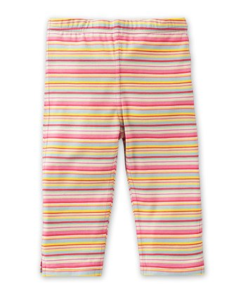 Pink Stripe Tiska Leggings - Toddler & Girls