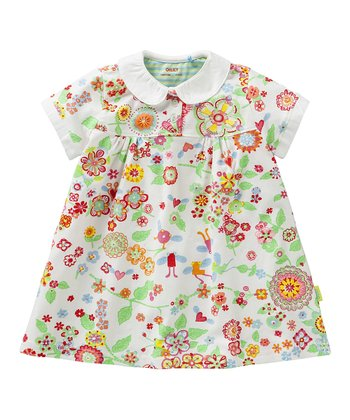 White Mirabelle Tulip Dress - Infant, Toddler & Girls