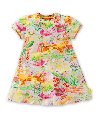 White Jungle Tov Dress - Infant, Toddler & Girls