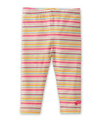 Pink Stripe Tappy Leggings - Infant, Toddler & Girls
