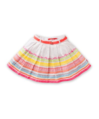 White Scoop Skirt - Girls