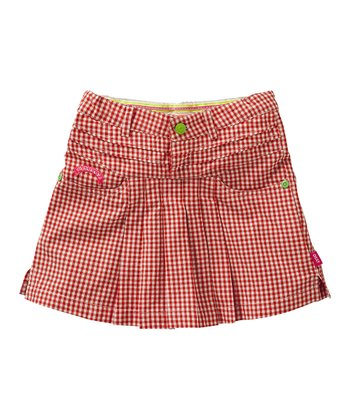 Red Gingham Sola Skirt - Toddler & Girls
