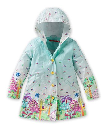 Blue Happy Jungle Callao Rain Jacket - Infant, Toddler & Girls