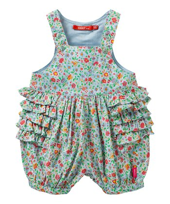 Blue Floral Oeta Romper - Infant