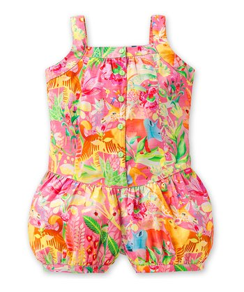 Pink Tope Jungle Romper - Toddler & Girls