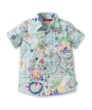 Blue Adventure Button-Up - Toddler & Boys