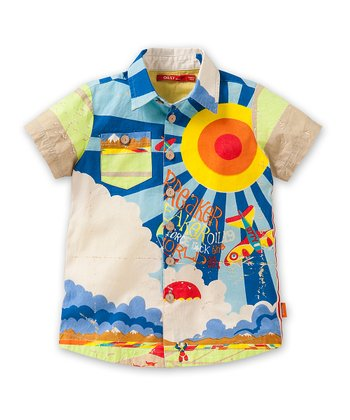 Blue Breaker Button-Up - Toddler & Boys