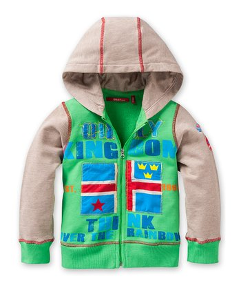 Teal Hunk Zip-Up Hoodie - Toddler & Boys