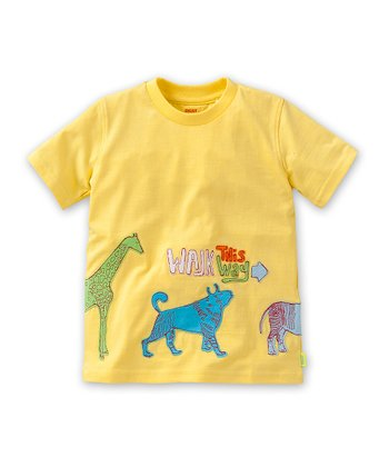Yellow 'Walk This Way' To Tee - Toddler & Boys