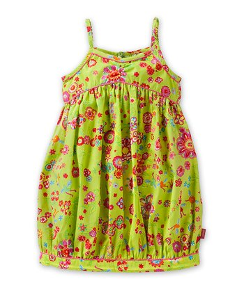 Green Dela Dress - Girls