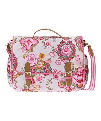 Cream Fantasy Flora Messenger Bag