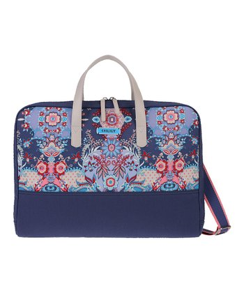 Blue Kaleidoscope Laptop Tote