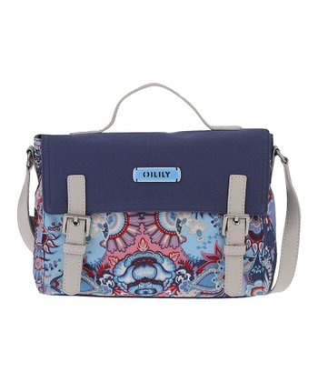 Blue Kaleidoscope Messenger Bag