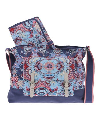 Blue Kaleidoscope Diaper Bag Set