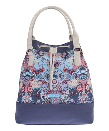 Blue Kaleidoscope Bucket Bag