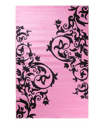 Pink Tattoo Scroll Rug
