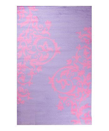 Purple Tattoo Scroll Rug