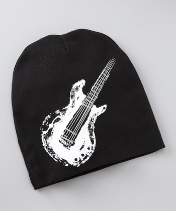 Black & White Guitar Beanie