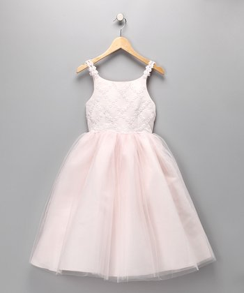 Pink Tea Length Pageant Dress - Toddler & Girls