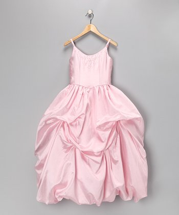 Light Pink Beaded Pageant Dress - Toddler & Girls