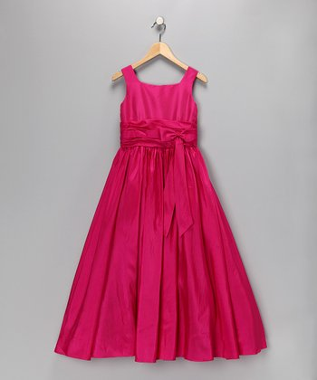 Cerise Pageant Dress - Toddler & Girls