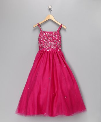 Cerise Princess Pageant Dress - Toddler & Girls