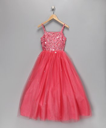 Coral Princess Pageant Dress - Toddler & Girls
