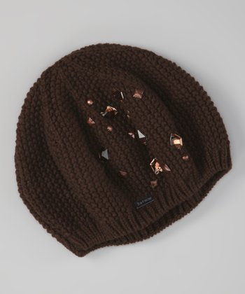Chocolate Amsterdam Studded Beret