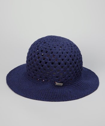 Navy Zinna Mesh Bucket Hat