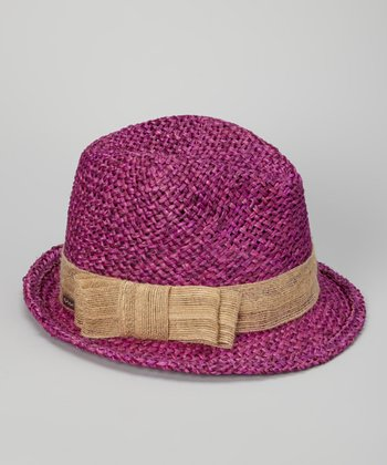 Magenta South Beach Fedora