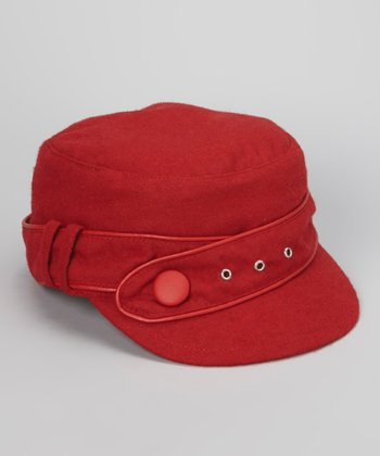 Red Military Twist Newsboy Cap