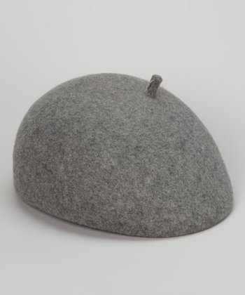 Light Gray Parisian Wool Beret