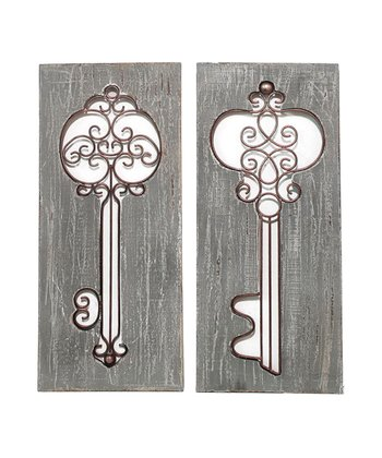 Key Wall Decoration - Set of Two